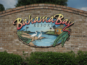 Sign for Bahama Bay Resort in Florida